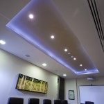 Boardroom ceiling with LCD lights