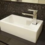 Basin in bathroom