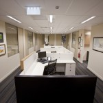 Overview of desk cubicles