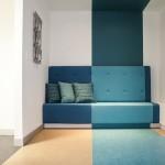 Blue sitting area