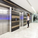 Elevators with wooden design