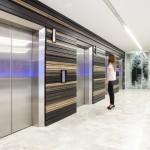 Elevators with wooden design