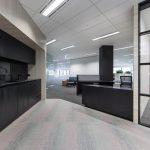 black office kitchen