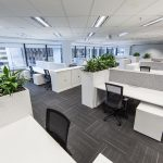white office cubicles
