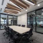 meeting room with light feature