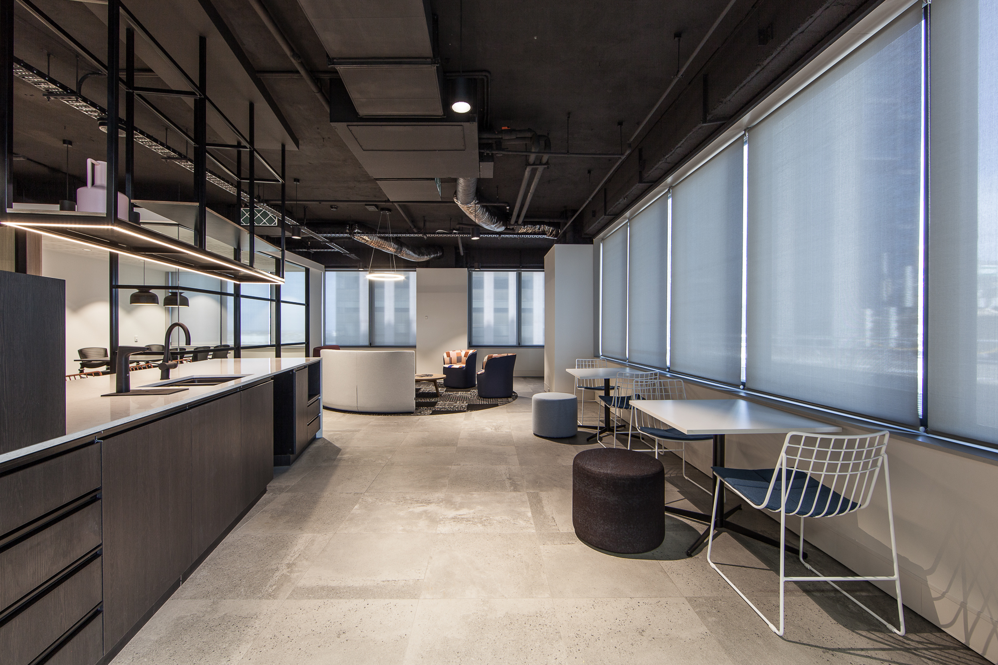 Office kitchen and dining tables