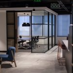 office design with reception