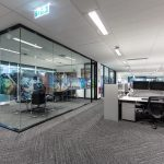 office with clear meeting room
