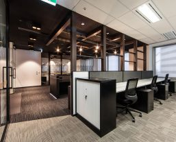 sectioned office space