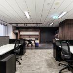 office kitchen, and desks